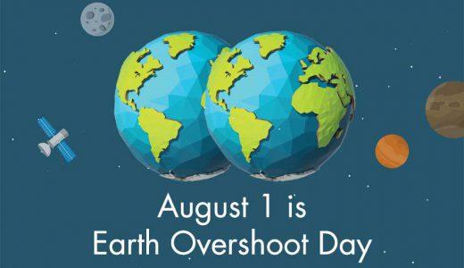 地球ノ皆サン。今日(8月1日)デ、今年分ノ自然資源ハ使イ切ラレマシタ。